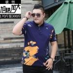 พรีออเดอร์ เสื้อยืด 2 XL - 7 XL อกใหญ่สุด 57.48 นิ้ว แฟชั่นเกาหลีสำหรับผู้ชายไซส์ใหญ่ แขนสั้น เก๋ เท่ห์ - Preorder Large Size Men Korean Hitz Short-sleeved T-Shirt