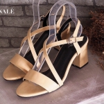 รองเท้าแฟชัน ส้นสูง แบบสวม รัดส้น สวยเก๋ หน้าไขว้เก็บหน้าเท้า ส้นตัด เดินง่าย สูง ประมาณ 2 นิ้ว ใส่สบาย แมทสวยได้ทุกชุด