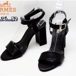 รองเท้าแฟชั่น ส้นสูง รัดส้น สไตล์แอร์เมสสวยเรียบเก๋ ทรงสวย หนังนิ่ม ส้นสูงประมาณ 4 นิ้ว ใส่สบาย แมทสวยได้ทุกชุด