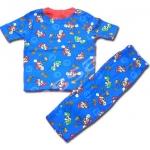 ชุดนอน สีน้ำเงิน ลาย Mario กับเห็ด 10T