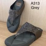 รองเท้าแตะแฟชั่น เพื่อสุขภาพ แบบหนีบ แต่งเพชรคลิสตัลสวยวิ้ง พื้นโซฟานิ่มใส่สบาย แมทสวยได้ทุกชุด (A313)