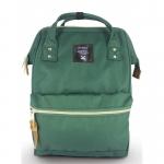 New!! กระเป๋าเป้ Anello dark green (Standard) เขียวเข้ม ผ้าแคนวาส