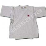 เสื้อจิมเบอิ สีขาว ลายอักษรญี่ปุ่น S100
