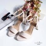 รองเท้าแฟชั่น ส้นสูง แบบสวม รัดข้อ หนังกำมะหยี่่เรียบหรู ทรงสวยโชว์เท้า ส้นสูง ประมาณ 3 นิ้ว เสริมหน้าเล็กน้อย ใส่สบาย แมทสวยได้ทุกชุด (G5203)