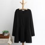 [พรีออเดอร์] เสื้้อแฟชั่นเกาหลีใหม่ อก 51.18 นิ้ว แขนยาว สำหรับผู้หญิงไซส์ใหญ่ - [Preorder] New Korean Fashion Shirt Long-Sleeved for Large Size Woman