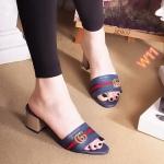 รองเท้าแฟชั่น ส้นสูง แบบสวม ดีไซน์สไตล์กุชชี่สวยเก๋ ส้นตัดสูงประมาณ 2.5 นิ้ว ทรงสวย ใส่สบาย แมทสวยได้ทุกชุด (FT-411)