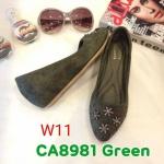 รองเท้าคัทชู ส้นเตารีด แต่งเพชรดาวสวยหรู ทรงสวย หนังนิ่ม ส้นสูงประมาณ 2 นิ้ว ใส่สบาย แมทสวยได้ทุกชุด (CA8981)