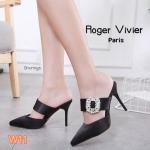 รองเท้าคััทชู ส้นสูง เปิดส้น แต่งเพชรคลิสตัลด้านหน้าสไตล์ roger สวยเรียบหรู ทรงสวยเพรียว ส้นสูงประมาณ 4.5 นิ้ว แมทสวยได้ทุกชุด (9467-108)