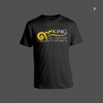 เสื้อยืดดำ ไว้อาลัย สกรีนสีขาวและสีทอง ลายที่ 9 King Of Thailand