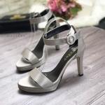 รองเท้าแฟชั่น แบบสวม รัดข้อ แต่งผ้าซาตินเรียบหรู ทรงสวยคลาสสิค ใส่ได้ตลอด แมทชุดไหนก็สวยดูดี ส้นสูงประมาณ 4 นิ้ว (G5-224)