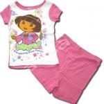 ชุดเด็ก สีขาว-ชมพู ลาย Dora 4T