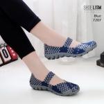 รองเท้ายางสาน เพื่อสุขภาพ วัสดุผ้ายืดนิ่มอย่างดีทอลายสลับสีทูโทนสวยเก๋ ส้นยางคุณภาพดีกันลื่น น้ำหนักเบามีความยืดหยุ่นสูงหนา 1 นิ้ว ใส่สวยเก๋มีสไตล์ สินค้างานคุณภาพ ดีไซน์มารับกับฝ่าเท้า ทรงสวย ใส่สบาย แมทสวยได้ทุกชุด (7207)