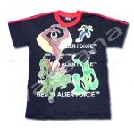 เสื้อ สีดำ-แดง ลาย Ben 10 Alien Force XL