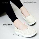 รองเท้าคัทชู แนวผสมผสาน ระหว่างความสวยหวานกับความรักสุขภาพ Fitness Vintage Soft ตอบโจทย์ให้สาวกวินเทจ กับรองเท้าผ้าลูกไม้กับการซ้อนแนวผ้าลูกไม้และการแต่งขอบ งานนี้พลาดไม่ได้ (188500)