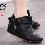 รองเท้าบูทสั้น สวยน่ารัก สไตล์เกาหลี หนัง PU อย่างดีนิ่ม แต่งโบว์ข้าง ทรงสวย เสริมส้น ด้านใน ประมาณ 2.5 นิ้ว ใส่สบาย แมทชุดไหนก็น่ารักดูดี (189-12)