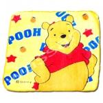 ผ้าเช็ดหน้า สีเหลือง ลาย Pooh กับดาว