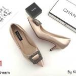 รองเท้าคัทชู ส้นเตี้ย บุซาตินแต่งอะไหล่สวยหรูสไตล์แบรนด์ หนังนิ่ม ส้นประมาณ 2 นิ้ว ใส่สบาย แมทสวยได้ทุกชุด (K9199)