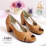รองเท้าคัทชู ส้นเตี้ย STYLE ZARA ดีไซน์เก๋ เปิดนิ้ว หน้าไขว้ ทำจากหนังนิ่ม เดินเส้นตะเข็บสวยมีสไตล์ มาพร้อมพื้นตีแบรนด์ ZARA ทรงสวย ใส่ได้ตลอด แมทสวยได้ทุกชุด สูง 2 นิ้ว สีดำ ครีม น้ำตาล (Z1722)