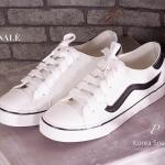 รองเท้าผ้าใบสุดน่ารัก Korea Sneaker ทรง Classic ผูกเชือก วัสดุหนังอย่างดี ใส่นิ่ม สบายเท้าแบบสุดๆ แบบสวมใส่ง่าย คล่องตัว พื้นนิ่มอย่างดี