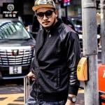 พรีออเดอร์ เสื้อแจ๊คเก็ตกันหนาว แฟชั่นเกาหลีสำหรับผู้ชายไซส์ใหญ่ อกใหญ่สุด 57.48 นิ้ว แขนยาว เก๋ เท่ห์ - Preorder Large Size Men Korean Hitz Long-sleeved Jacket