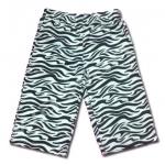 กางเกง สีขาว-ดำ ลายม้าลาย 6T