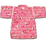 เสื้อจิมเบอิ สีชมพู ลาย Hello Kitty กับดอกซากุระ S95