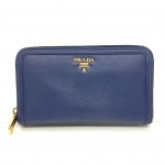 (SOLDOUT)PRADA zippy wallet navy