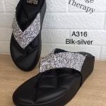รองเท้าแตะแฟชั่น เพื่อสุขภาพ แบบหนีบแต่งเพชรเป็นประกายสวย พื้นโซฟา ใส่สบาย แมทสวยได้ทุกชุด (A316)