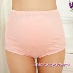 กางเกงในคนท้องพยุงครรค์ สีชมพูลายจุดขาว