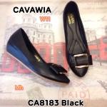 รองเท้าคัทชู ส้นเตารีด สวยน่ารัก แต่งอะไหล่โบว์ด้านหน้า พื้นนิ่ม ใส่สบาย ส้นสูงประมาณ 2 นิ้ว แมทสวยได้ทุกชุด (CA8183)