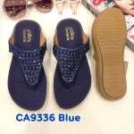 รองเท้าแตะแฟชั่น แบบหนีบ รัดส้น แต่งอะไหล่สวยเก๋ รัดส้นยางยืดนิ่ม พื้นนิ่ม ใส่สบาย แมทสวยได้ทุกชุด (CA9334)