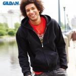 เสื้อฮู้ด Hoodie กันหนาว Gildan แบบซิป สีดำ