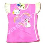 เสื้อ สีชมพู-เหลือง ลาย Marie Miss Meaw 12T
