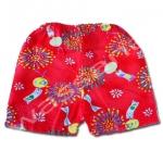 กางเกงจิมเบอิ สีแดง ลายพลุไฟกับกระดิ่งลม S90
