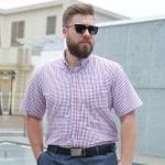 พรีออเดอร์ เสื้อเชิ้ต แขนยาว 38-50 อกใหญ่สุด 59.05 นิ้ว แฟชั่นเกาหลีสำหรับผู้ชายไซส์ใหญ่ แขนสั้น เก๋ เท่ห์ - Preorder Large Size Men Korean Hitz Short-sleeved T-Shirt