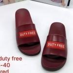 รองเท้าแตะแฟชั่น แบบสวม แต่งลาย DUTY FREE สุดเก๋ พื้นยางนิ่มยืดหยุ่น วัสดุอย่างดี ทรงสวย ใส่สบาย แมทสวยได้ทุกชุด