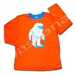 เสื้อ สีส้ม-ฟ้า ลาย Yeti ยี่ห้อ Place 10T