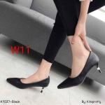 รองเท้าคัทชู ส้นเตี้ย ทรงหัวแหลม หนังนิ่มแต่งอะไหล่ที่ส้นสวยเรียบหรู ด้านบุนวมนิ่ม น้ำหนักเบา ส้นสูงประมาณ 2 นิ้ว ทรงสวย ใส่สบาย แมทสวยได้ทุกชุด (K9337)