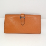 HERMES Chevre Mysore Leather Bearn wallet