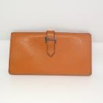 HERMES Chevre Mysore Leather Bearn wallet