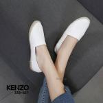 รองเท้าคัทชู ทรง slip on แต่งพิมพ์ลายหน้าเสือสไตล์เคนโซ่ ส้นแต่งเชือกถักสวยเก๋ หนังนิ่ม ทรงสวย ใส่สบาย แมทสวยได้ทุกชุด (388-927)