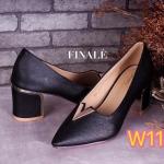 รองเท้าคัทชู ส้นเตี้ย สวยหรู แต่ง V ทองและส้นขอบทองสวยหรู หนังนิ่มอย่างดี ใส่สบาย ส้นตัดสูงประมาณ 2.5 นิ้ว แมทสวยได้ทุกชุด