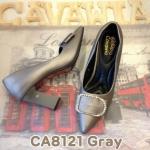 รองเท้าคัทชู ส้นสูง สวยหรู แต่งอะไหล่เพชรโบว์ด้านหน้า ส้นเหลี่ยมเพิ่มความ เก๋ พื้นบุนิ่ม ใส่สบาย แมทสวยได้ทุกชุด สูงประมาณ 3.5 นิ้ว (CA8121)