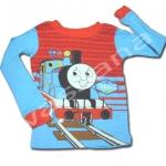 เสื้อแขนยาว สีแดง-ฟ้า ลาย Thomas 3T