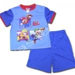 ชุดเด็ก สีฟ้า-น้ำเงิน ลาย Mario Super Sluggers 6T
