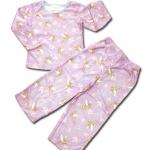 ชุดนอน สีม่วง ลาย Fairies กับดอกกล้วยไม้ 3T