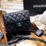 """กระเป๋าแฟชั่น สไตล์ CHANEL 8"""" อะไหล่รุ้ง โซ่สีรุ้ง งานสวยเป๊ ใช้วัสดุ pu เกรดพรีเมียม ใช้เทคนิคการขึ้นรูปทรงกระเป๋าได้สวยมาก งานดูดีมีราคา ถ่าย จากสินค้าจริง สวยทุกมุมมอง"""