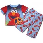 ชุดนอน สีน้ำเงิน-แดง ลาย Sesame Street 12M