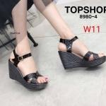 รองเท้าแฟชั่น ส้นเตารีด แบบสวม รัดส้น หนังเงาสวยเก๋ ส้นแต่งลายริ้ว ทรงสวย หนังนิ่ม ส้นสูงประมาณ 4 นิ้ว เสริมหน้า ใส่สบาย แมทสวยได้ทุกชุด (8980-4)