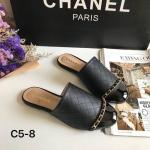 รองเท้าคัทชู เปิดส้น แต่งโซ่คาดดีไซน์สไตล์ชาแนล งานมีในช้อป ส้นแบน เดินง่าย หน้ากว้าง หนังนิ่ม ใส่สบาย แมทสวยได้ทุกชุด (c5-8)
